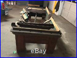 Early antique Brunswick billiards pool table Complete Broken Down For Storage