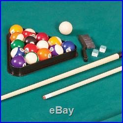 EastPoint Sports 87 Brighton Billiard Pool Table Set Full Accessories Green