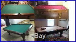EastPoint Sports Classic 87 Pool Table Billiard Set Light Cues Balls Brush PICK