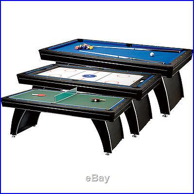 Easy Change 3-in-1 Game Table- Billiards Hockey Ping Pong