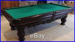 Elegant Brunswick 8.5' Carved Pool Billiards Table