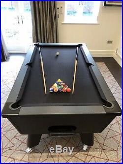 Exclusive Carbon Fibre Style Pool Table Stealth matt black edition
