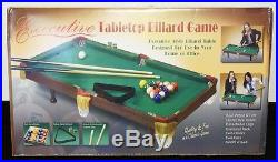 Executive Portable Tabletop Billiard Pool Table