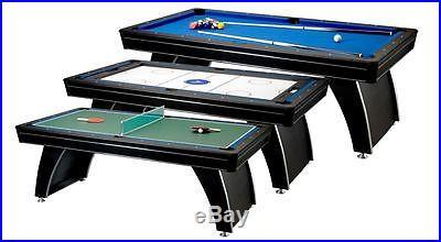 FAT CAT Phoenix 3in1 Billiards/Pool Tennis Hockey Table 64-0145
