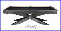 Felix Pool Table 8' with Gun Metal Grey Finish and FREE SHIPPING