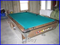 Fischer Empire VIII 4X8 One Piece Slate Pool Table (St. Louis Area) 1972