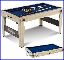 Folding Billiard Pool Table 5Ft Cue Set Accessory Kit Portable Home Game Room