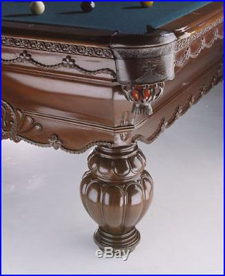 Fortress Billiards 8 or 9 ft GREEK URN NEW Pool table