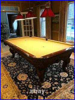 GREAT CONDITION Renaissance Custom Original Pool Table by Charles A. Porter AMF