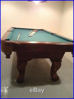 Game Room Man Cave Basement 87' East Point Billiard Pool Table Used
