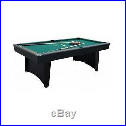 Game Room Pool Table Set Billiards Table Balls Cues Wall Rack Chalk Triangle 7Ft