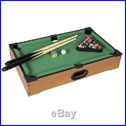 Game Table Top With Accessories Board Games Billiards Set Mini Pool Table