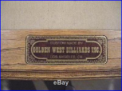 Golden West 8' Slate Pool Table Local Pick Up Only
