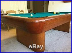Gorgeous 8' Brunswick Gibson model pool table withProfessional installation