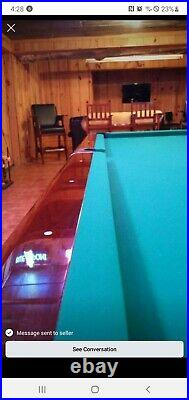 Gorgeous 9' Brunswick Anniversary pool table pkg. (restored by Mark Gregory)