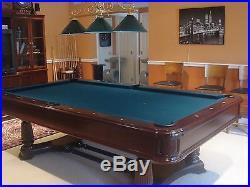 Gorgeous Brunswick Montebello Pool Table in a dark walnut finish
