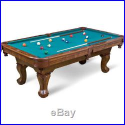 Green Pool Table 87 Inch Billiard Table 2 Wooden Ques Top Quality