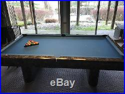 Grey Marble Pool Table Blue Top Great Condition Accessories Included