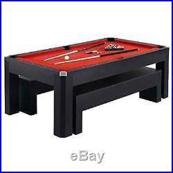HATHAWAY Hathaway Park Avenue Billiard Pool Table Combo Set, 7-Feet