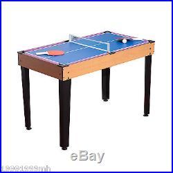 HOMCOM 3 in 1 Mini Games Table Tennis Billiard Pool Air Hockey Set with Accessory