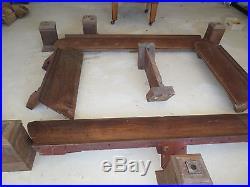 HUGE MISSION OAK 6 LEG Antique Brunswick SARATOGA Pool/BILLIARD Table QUART OAK