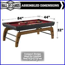 Hall of Games Edgewood 7' Modern Pool Table