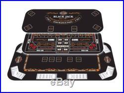 Harley-Davidson Poker Table Top Black Jack 3-IN-1 Casino Games 676