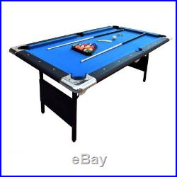 Hathaway Fairmont 6 ft. Portable Pool Table, Blue (Table Top), 6 ft