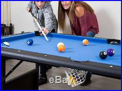 Hathaway Fairmont Portable 6-Ft Pool Table For Families With Easy Folding For St