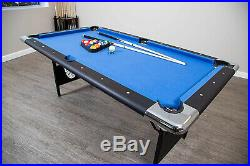 Hathaway Fairmont Portable 6-Ft Pool Table for Families with Easy Folding for