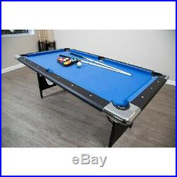 Hathaway Fairmont Portable Pool Table 6 Ft Indoor Game Easy Folding Storage New