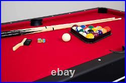 Hathaway Spartan 6' Pool Table, billiards+table tennis top 72 L x 38 W x 31 H