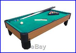 Home 40-Inch Pool Table Top Green Billiard Cloth Family Kids Fun With Equipment