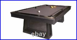 Ixabel Pool Table 8' with Gun Metal Grey Finish and FREE SHIPPING