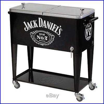 Jack Daniel's 80 Quart Rolling Cooler