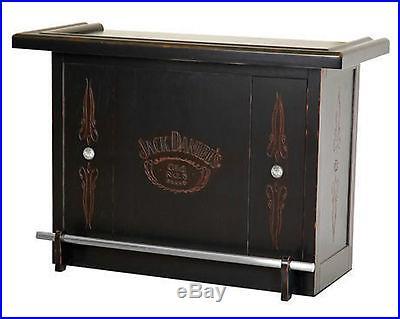 Jack Daniel's Hardwood Bar with 5 shelves & Foot Rest