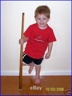 KIDS Children Short WOODEN POOL SNOOKER BILLIARD CUE 36 long REAL POOL CUE