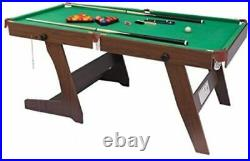 Kids Professional Pool Table Billiards Snooker Cue Balls Play Set 6FT Portable