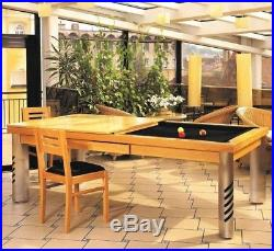 LUXURY CONVERTIBLE DINING POOL TABLE Billiard Dining Desk Fusion MIRAGE 8' 8 ft