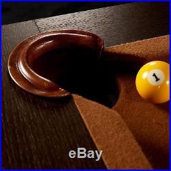Lancaster 96 Inch Wood Veneer Billiards Pool Table with Cues, Cue Rack, and Balls
