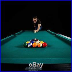 Large 90 Traditional Complete Set Arcade Pool Table Billiard Indoor Game Room