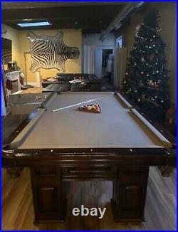 Large Beautiful Slate Pool Table