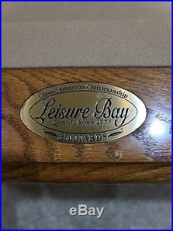 Leisure Bay Pool Table with 3 piece original Italian Slate 88 x 44