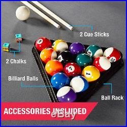 MD Sports Billiard Pool Table Set Balls Cues Chalk Brush Triangle 7.5 Ft New