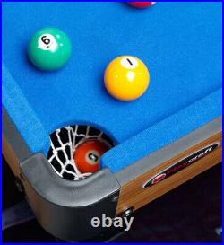 MINI POOL TABLE Blue Portable Tabletop Billiard Game Set Accessories Included