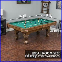 Masterton Billiard Pool Table Durable Material with Built-In Leg Levelers
