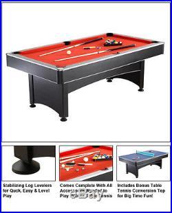 Maverick 7 Ft. Pool Table With Table Tennis