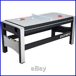 Mesa Multijuegos 4 en 1, billar, Ping Pong, Hockey de Mesa Giratoria, 72 pulgada