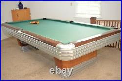 Mid-Century Modern Vintage Brunswick Centennial Pool Table