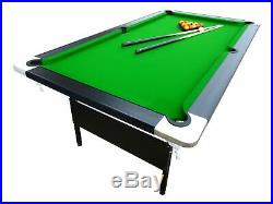 Mightymast Leisure 7ft HUSTLER Professional Fold Up Deluxe Pool Table With Gr